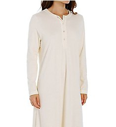 P-Jamas 48 Inch Henley Long Gown 387660