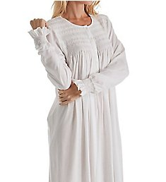 P-Jamas Isabel Smocked Long Sleeve Nightgown Isabel