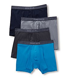 Perry Ellis Portfolio 1x1 Rib Boxer Briefs - 4 Pack 536115