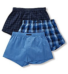 Perry Ellis 100% Pure Cotton Woven Boxers - 3 Pack 879615