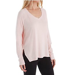 PJ Harlow Rib Long Sleeve V-Neck with Side Slits FRANKIE