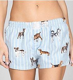 PJ Salvage Flannels Dog Gone Tired Boxer Short RKDOS