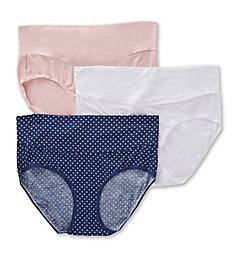 Playtex Maternity Fold Down Modern Brief Panty - 3 Pack PMMDBF