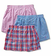 Polo Ralph Lauren Classic Fit 100% Cotton Woven Boxers - 3 Pack LCWBP3