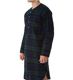 Polo Ralph Lauren Flannel Long Sleeve Plaid Sleep Shirt P658