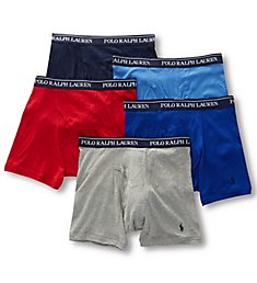 Polo Ralph Lauren Classic Fit 100% Cotton Boxer Briefs - 5 Pack RCBBP5