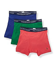 Polo Ralph Lauren Classic Fit Cotton Boxer Briefs - 3 Pack RCBBS3