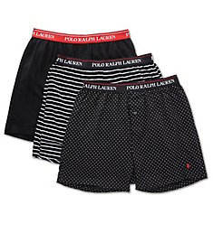 Polo Ralph Lauren Classic Fit Cotton Knit Boxers - 3 Pack RCKBH3
