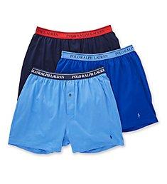 Polo Ralph Lauren Classic Fit Cotton Knit Boxers - 3 Pack RCKBP3
