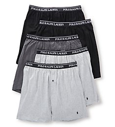 Polo Ralph Lauren Classic Fit 100% Cotton Knit Boxers - 5 Pack RCKBP5
