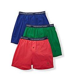 Polo Ralph Lauren Classic Fit Cotton Knit Boxers - 3 Pack RCKBS3
