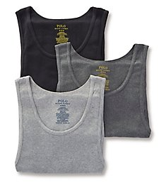 Polo Ralph Lauren Classic Fit Ribbed 100% Cotton Tanks - 3 Pack RCTKP3