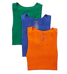Polo Ralph Lauren Classic Fit Cotton Tanks - 3 Pack RCTKS3