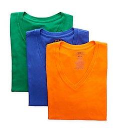 Polo Ralph Lauren Classic Fit 100% Cotton V-Neck T-Shirts - 3 Pack RCVNS3