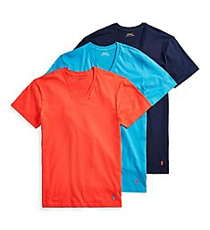Polo Ralph Lauren Classic Fit 100% Cotton V-Neck T-Shirts - 3 Pack RCVNS3