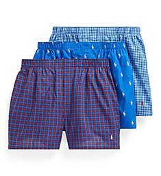 Polo Ralph Lauren Classic Fit Cotton Woven Boxers - 3 Pack RCWBH3