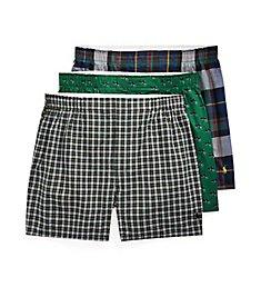 Polo Ralph Lauren Classic Fit Cotton Woven Boxers - 3 Pack RCWBP3