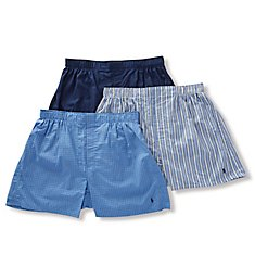 Polo Ralph Lauren Classic Fit Cotton Woven Boxers - 3 Pack RCWBP3