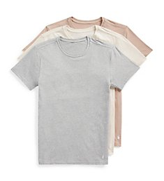 Polo Ralph Lauren Stretch Slim Fit Crew Neck T-Shirts - 3 Pack RWCNP3