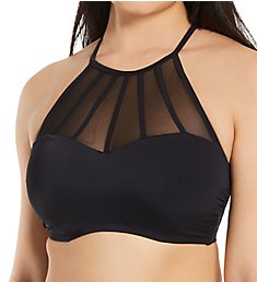 Pour Moi Space High Neck Underwire Cami Swim Top 13600