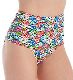 Pour Moi Wonderland Ruched Control Brief Swim Bottom 35005