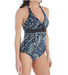 Pour Moi Barracuda Underwire Halter One Piece Swimsuit 45006