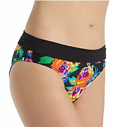 Pour Moi Black Dahlia Mid Rise Brief Swim Bottom 63004