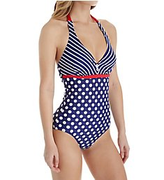 Pour Moi Starboard Halter Underwire One Piece Swimsuit 68015