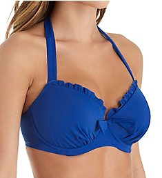 Pour Moi Pool Party Halter Underwire Swim Top 98000