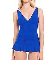 Profile by Gottex Origami V-Neck Tummy Control One PC Swim Dress 7622044