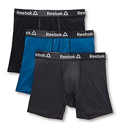 Reebok Feather Weight Performance Boxer Briefs - 3 Pack 193WB21