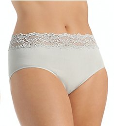 Rhonda Shear Ahh Seamless Panty with Lace 4040