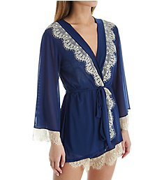 Rhonda Shear Up All Night Lace Trim Robe 4810