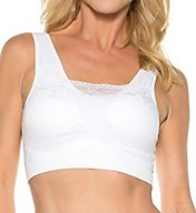 Rhonda Shear Seamless Bra with Lace Overlay 9346