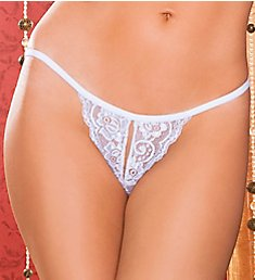 Seven 'til Midnight Tina Split Crotch Lace Thong STM9186
