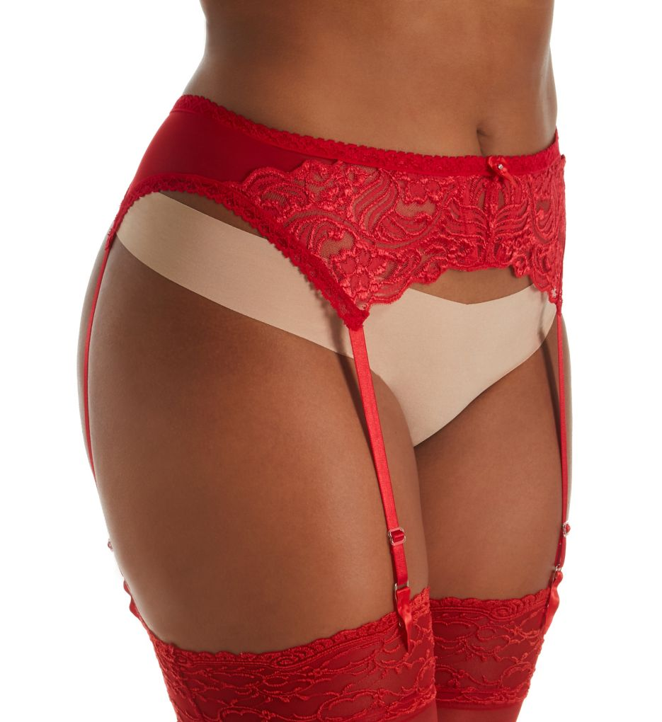 Shirley of Hollywood Plus Size Chopper Lace Garter Belt X671