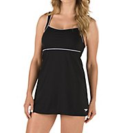 Speedo Endurance+ Piped Sheath One Piece Swim Dress 7231000