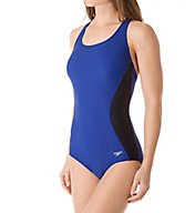 Speedo Illusion Splice Ultraback One Piece Swimsuit 7235034