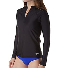 Speedo Long Sleeve Zip Front Rashguard 7237143