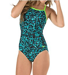 Speedo Endurance Lite Print J-Hook One Piece Swimsuit 7723062