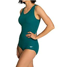Speedo Pebble Texture One Piece Swimsuit 7723146
