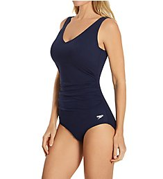 Speedo Active Side Shirred Contour One Piece Swimsuit 7723952