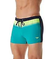 Speedo Ombre Tape 4-Way Stretch Square Leg Swim Trunk 7730030