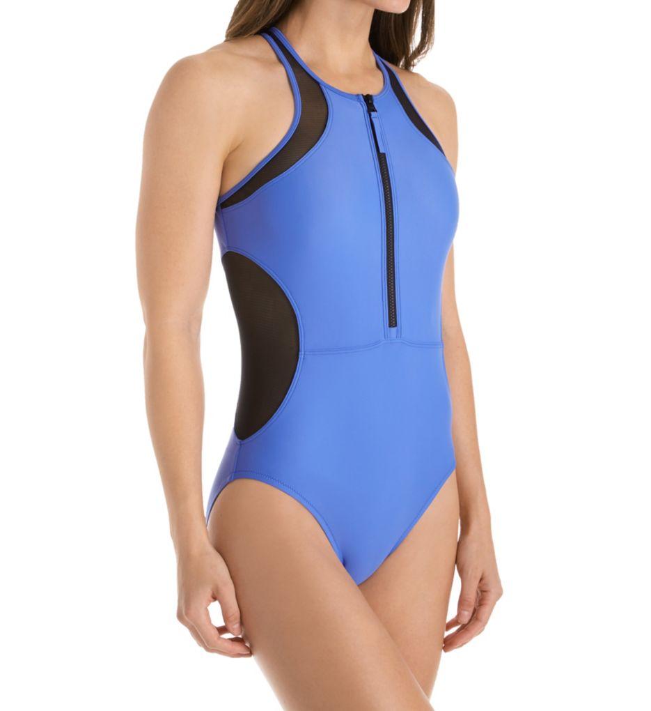 Speedo Powerflex Eco Mesh High Neck One Piece Swimsuit 7734098