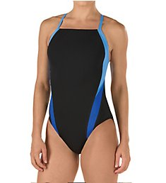 Speedo Launch Splice Cross Back One Piece Swimsuit 8191409