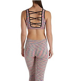 Under Control Cross Binding Sports Bra and Capri Athleisure Set CF-70041